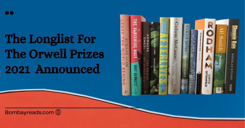 The Orwell Prizes 2021 Longlist Announced